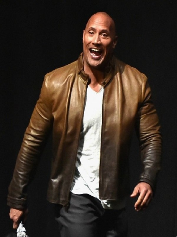 Dwayne Johnson Jumanji 2 Premiere Real Leather Jacket