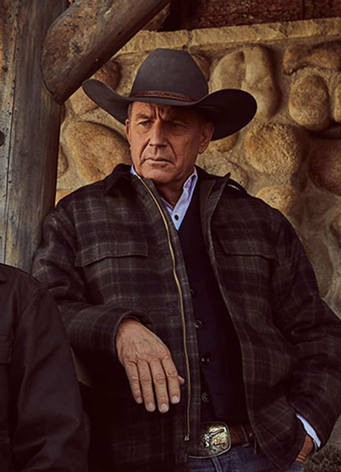 Kevin Costner John Dutton Plaid Wool Jacket