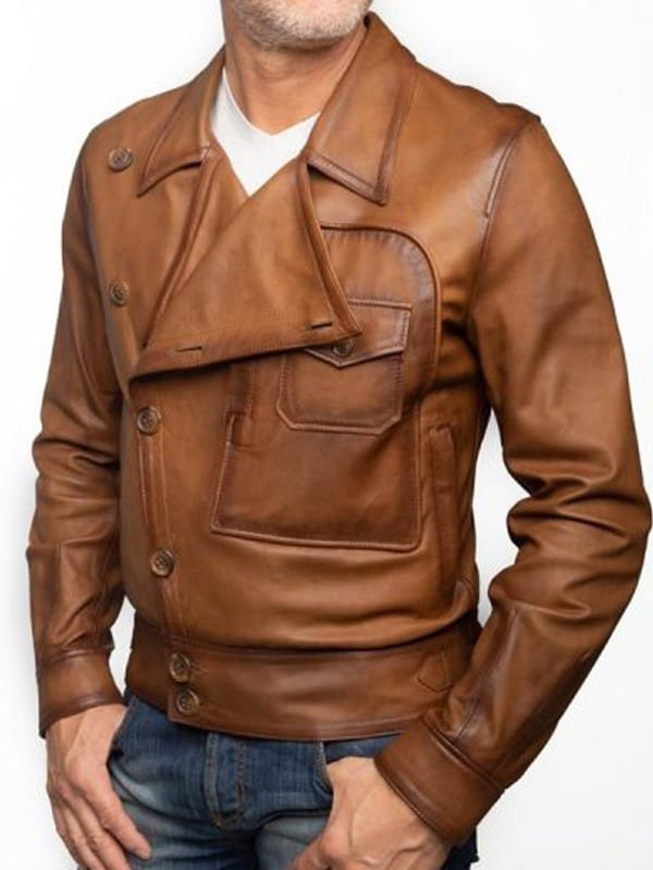The Aviator Movie Leonardo DiCaprio Brown Faux Leather Leather Jacket