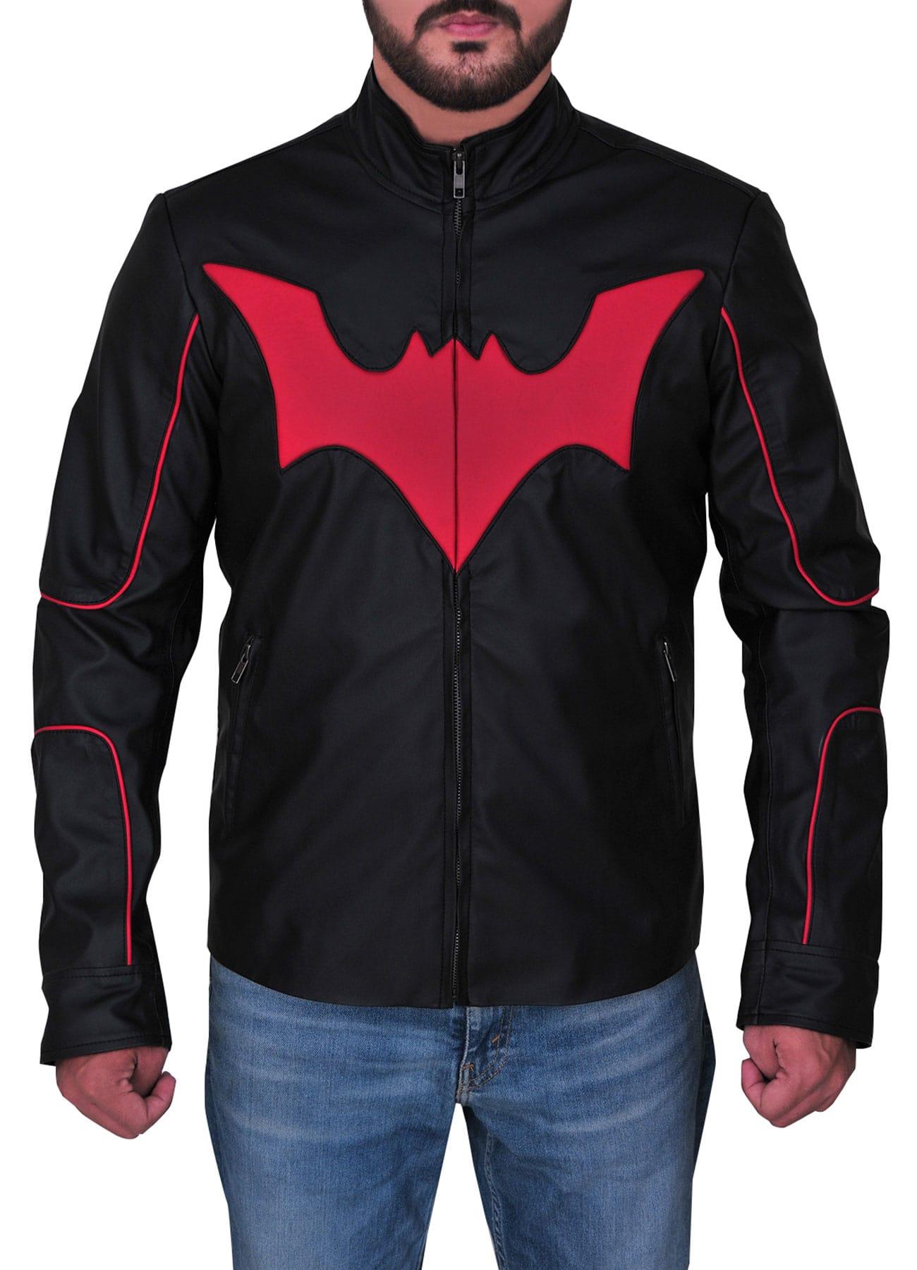 Batman Black Faux Leather Jacket For Men