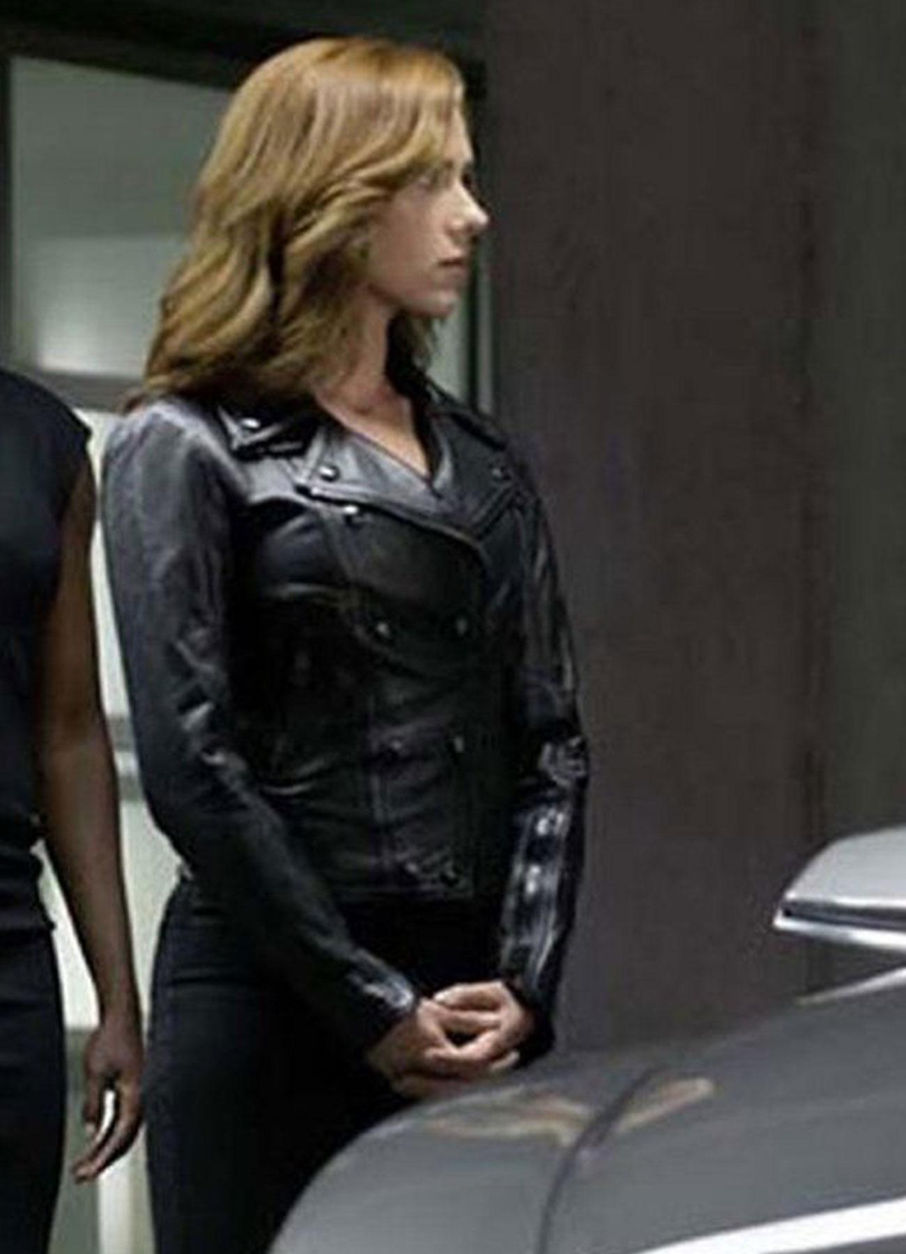 Captain America Civil War Black Sheepskin Leather Jacket