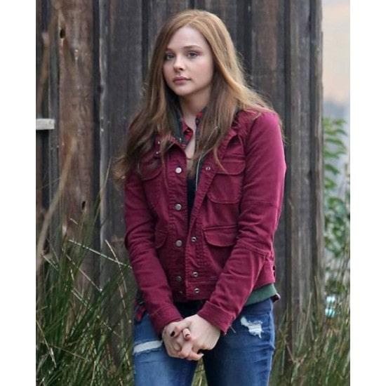 Chloe Grace Moretz If I Stay Cotton Fabric Jacket
