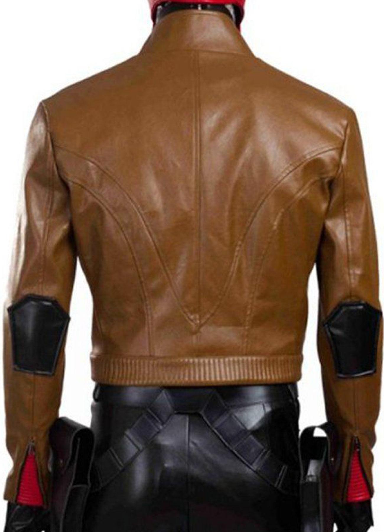 Jason Todd - Batman Under The Red Hood Biker Sheepskin Leather Jacket