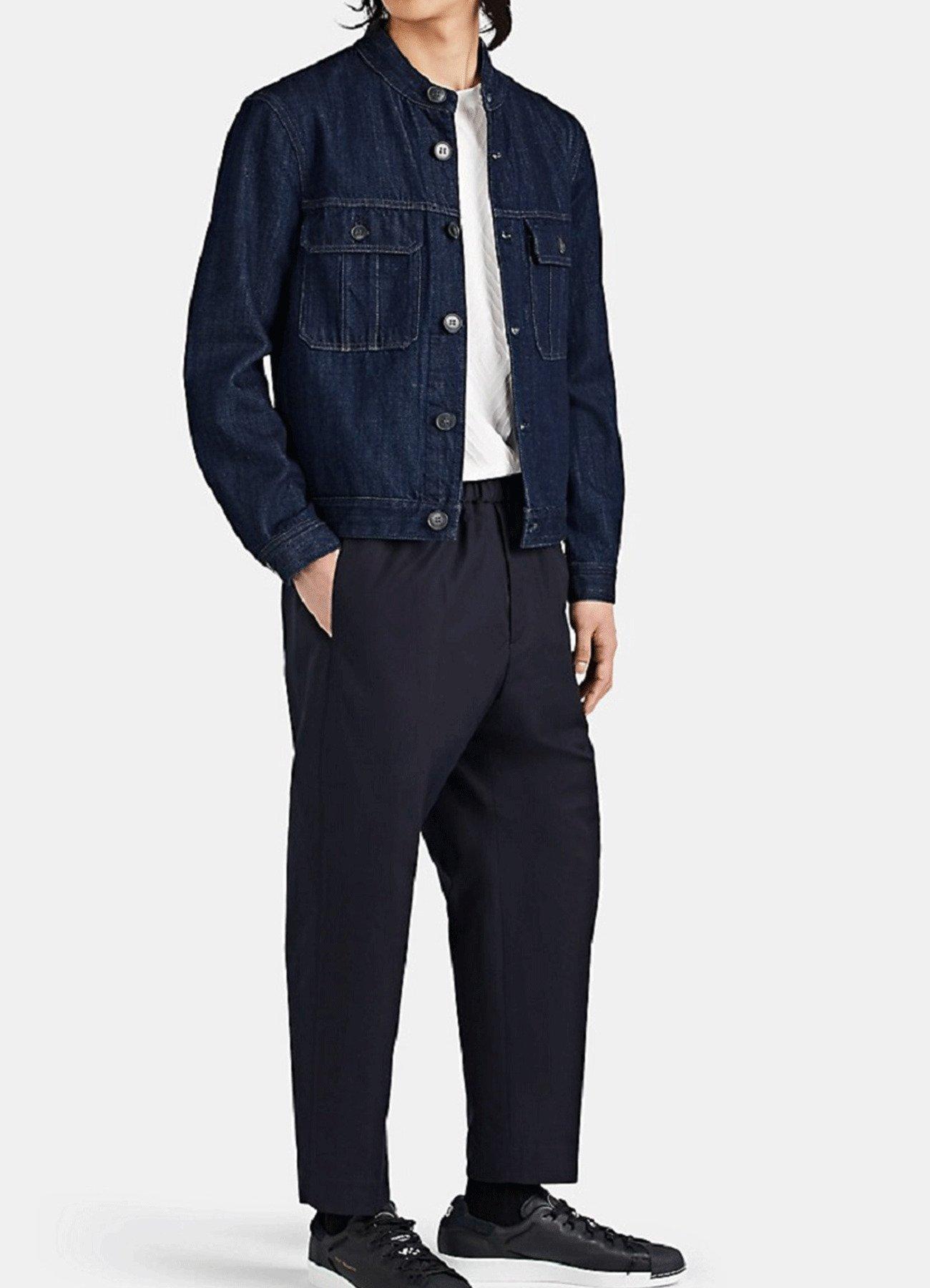 Men Fashion Blue Smart Fit Denim Jacket