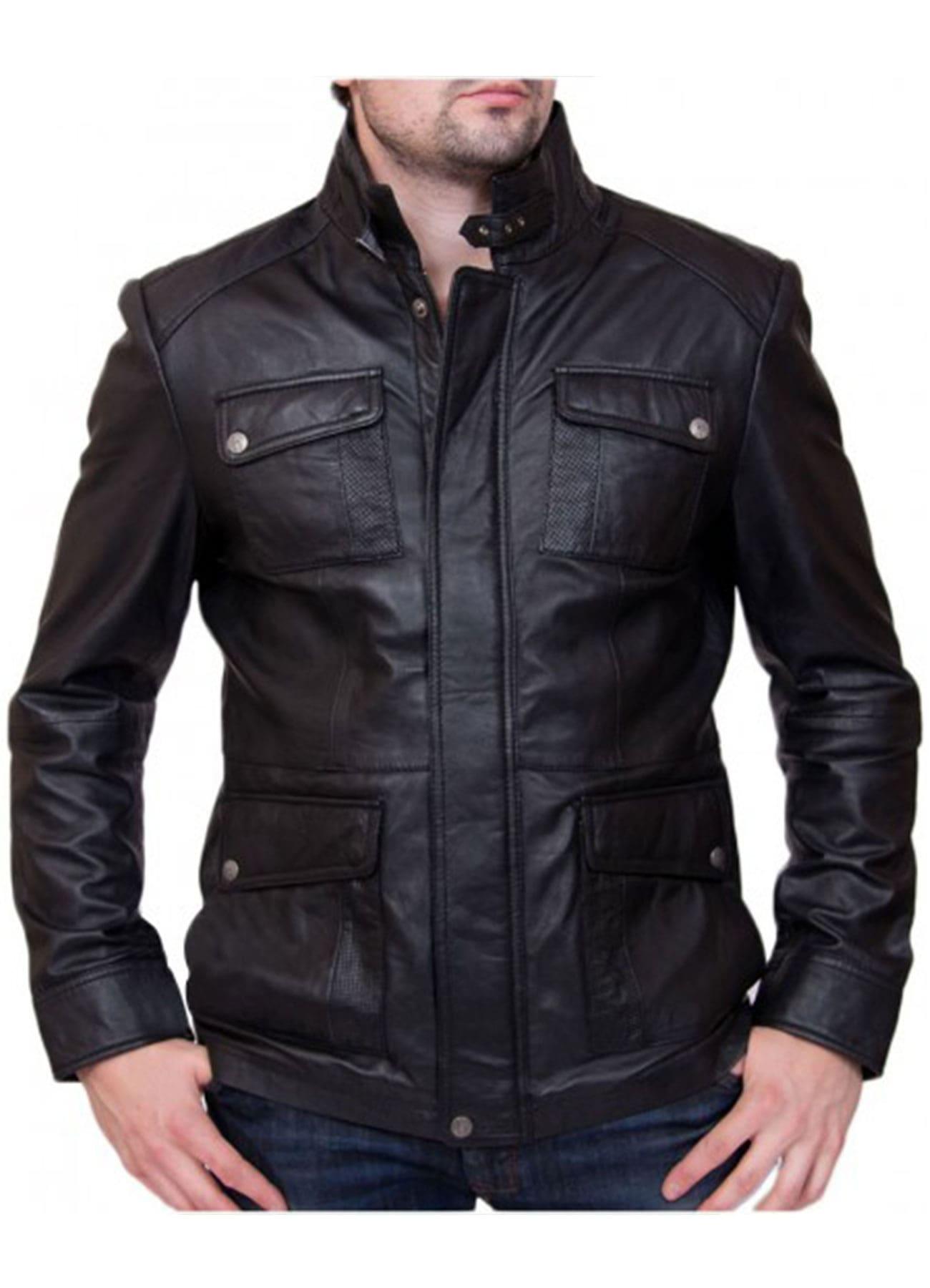 Men's Bike Racer Vintage Black Genuine Leather Jacket