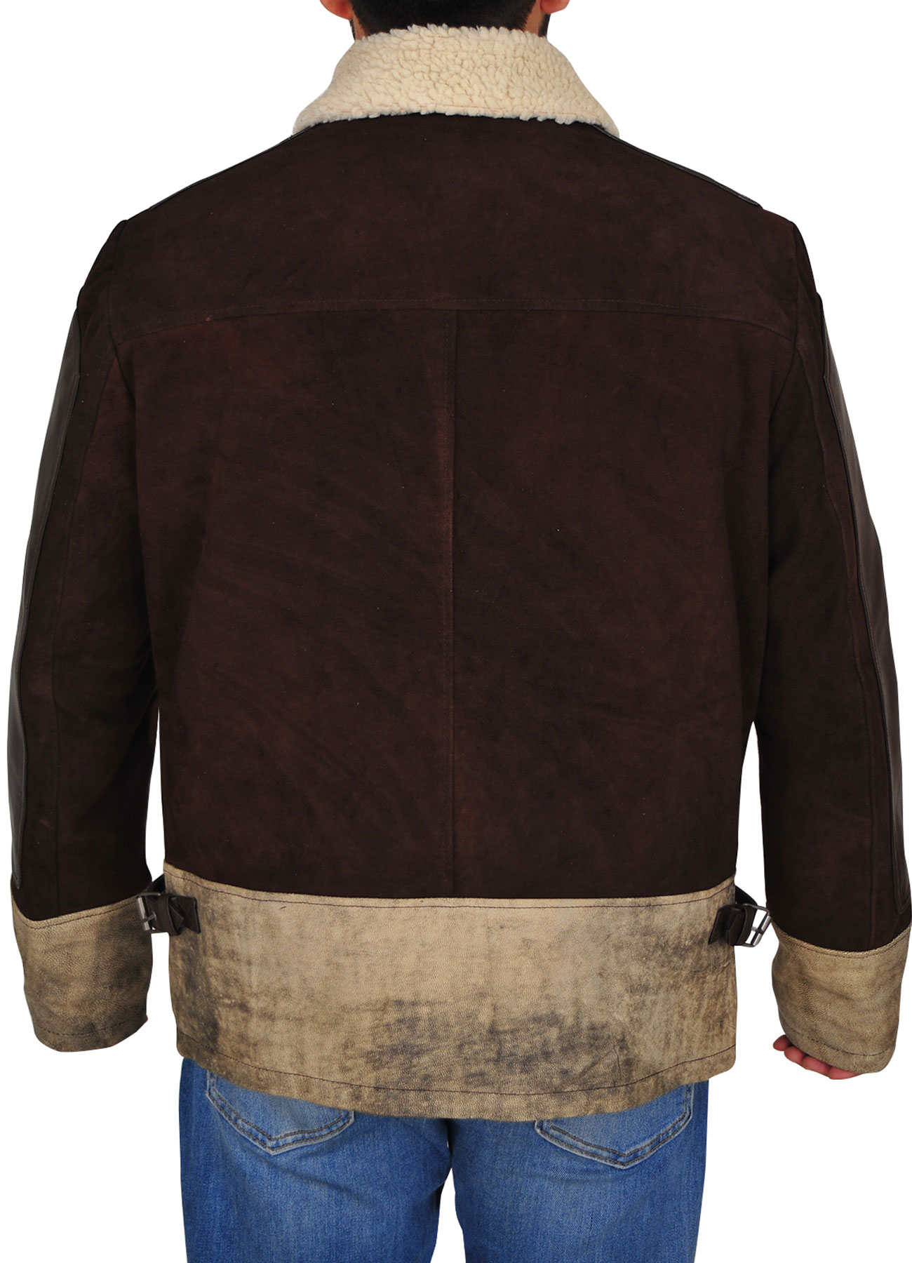 Men's Fashion Brown Suede Leather Jacket