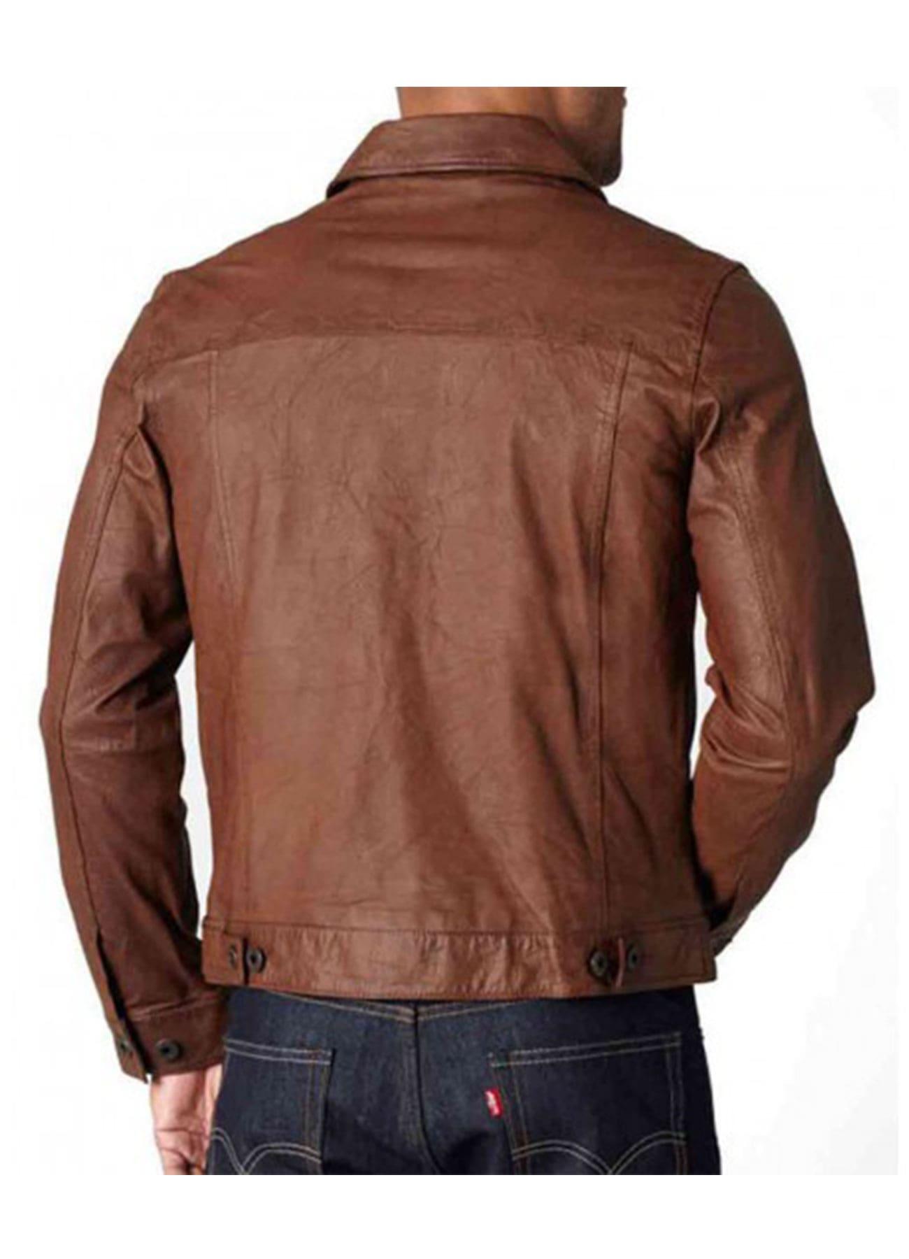 Men's Vintage Brown 100% Genuine Leather Jacket