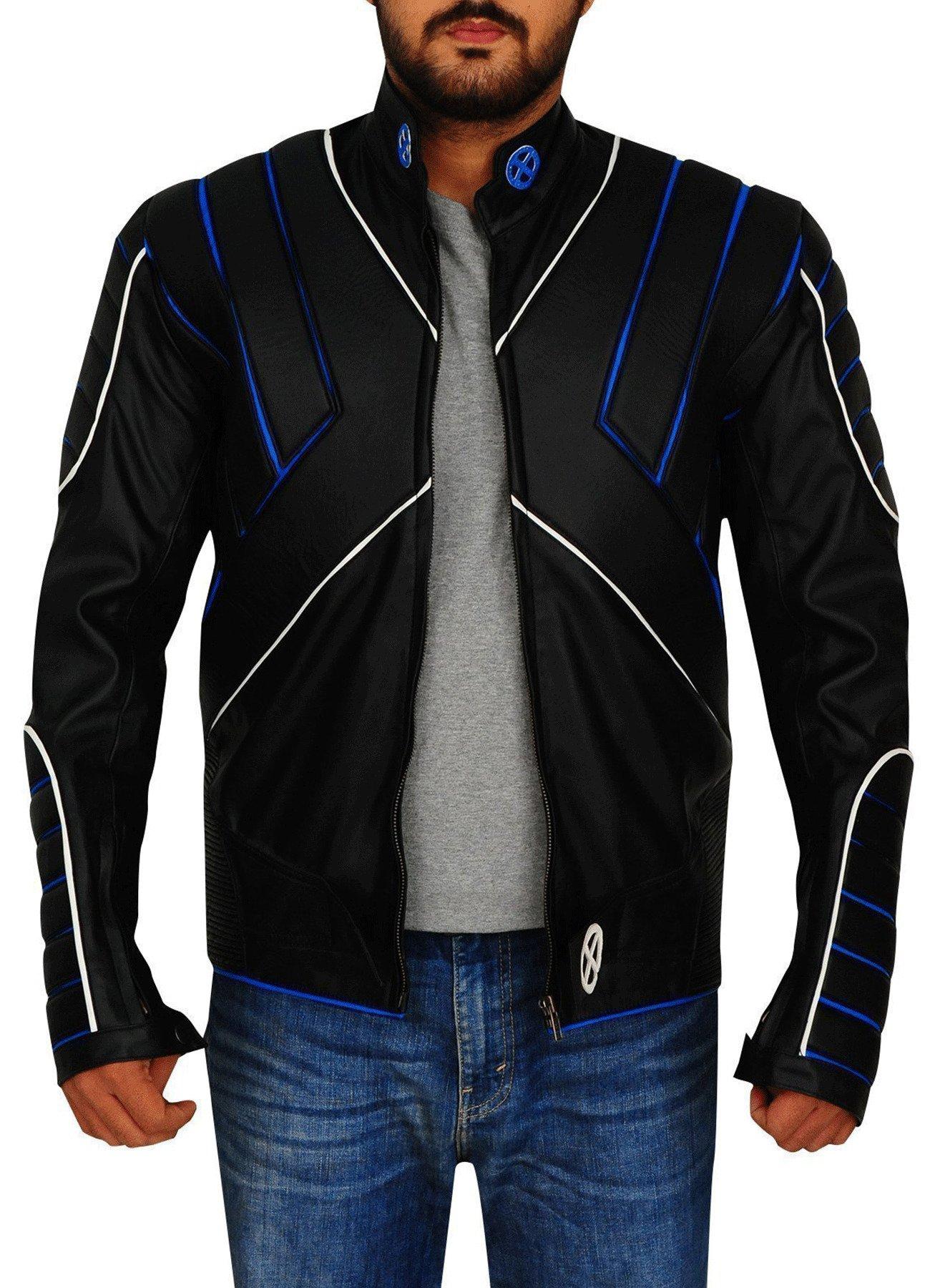 X-Men Cyclops Cosplay Black Faux Leather Jacket