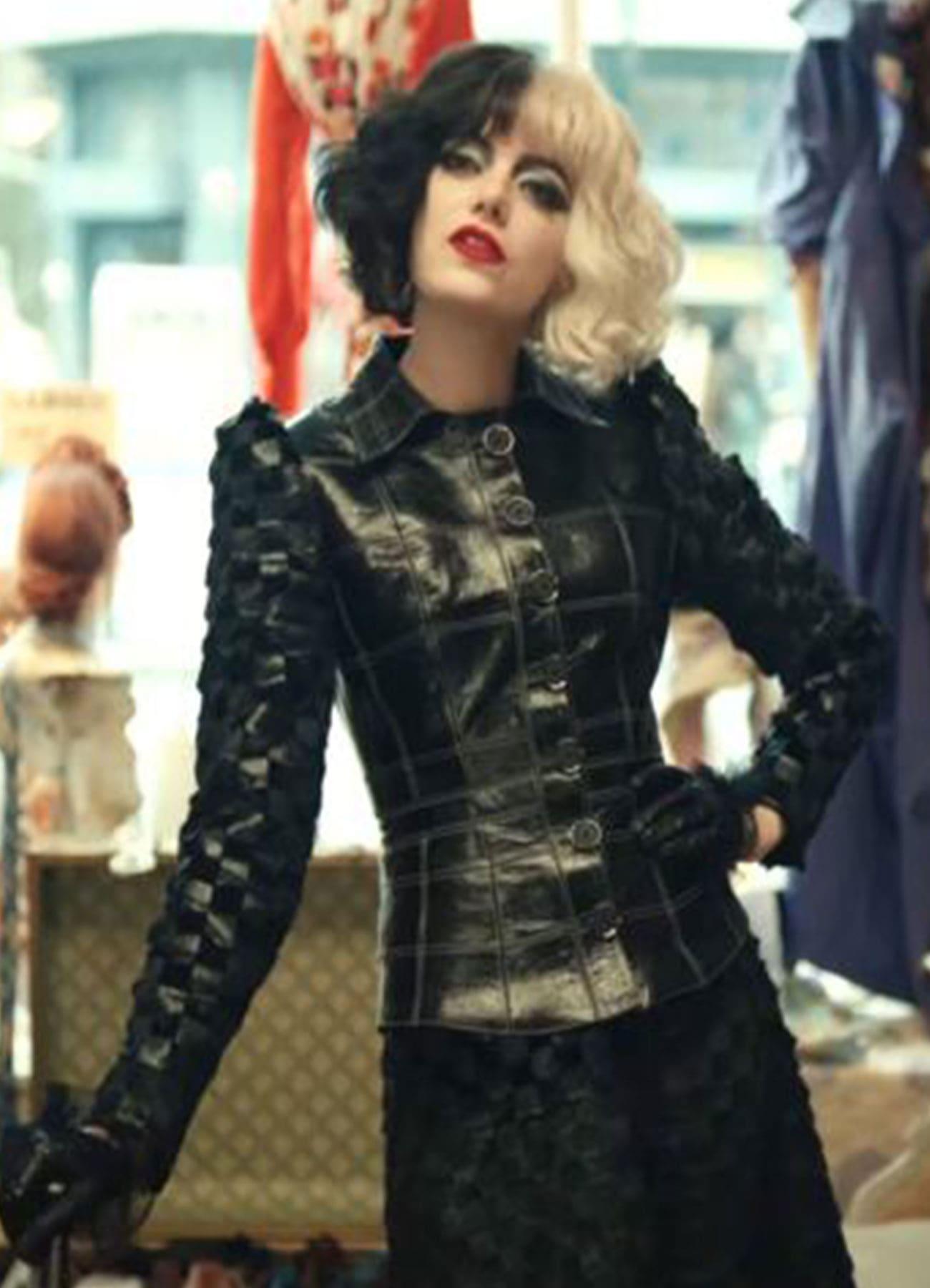 Cruella De Vil Stylish Black Faux Leather Jacket