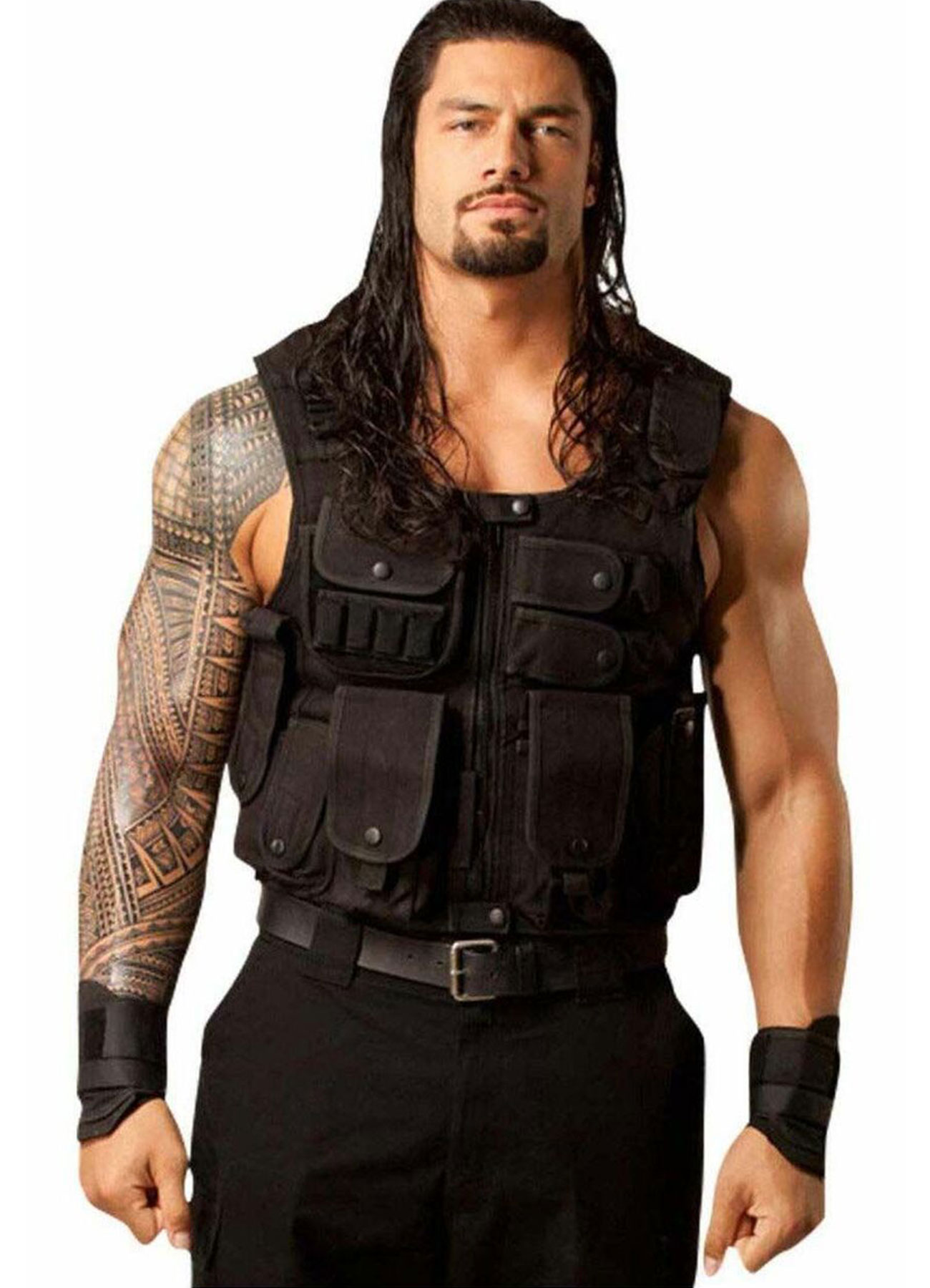 WWE Roman Reigns Tactical Leather Vest - The Shield