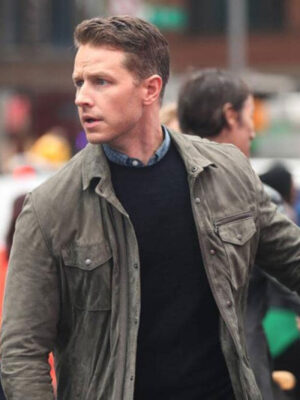 Manifest Ben Stone Olive Green Suede Leather Jacket
