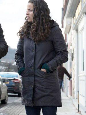 Manifest Grace Stone Black Hooded Coat