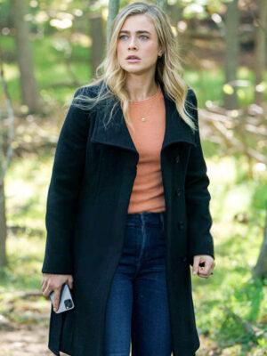 Manifest Michaela Stone Black Wool Long Coat