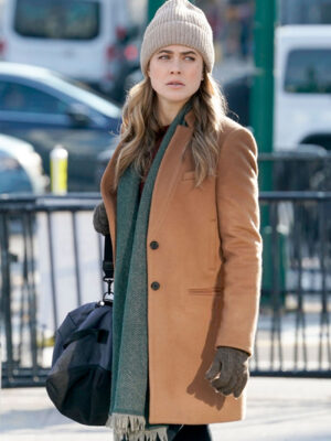Manifest Michaela Stone Brown Wool Coat